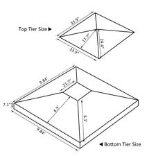 10x10ft Double Tier Gazebo Replacement Top Canopy Patio Pavilion Sunshade Cover