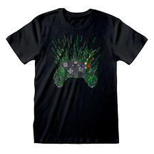 X-BOX Controller T Shirt Official NEW Gaming Gamer Game Paint Splatter Dripping
