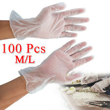 100Pcs Disposable PVC Nitrile Gloves Tapered Cuffs Anti-Bacterial Anti-Puncture