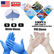 Disposable Glove Anti Bacteria Medical Nitrile Powder Free NonVinyl Latex S/M/L