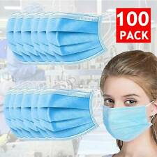100x Protective Face Mazk Nose Mouth Respirator 3-Layers Family Protect IN-STOCK