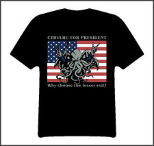 Cthulu for president funny evil t shirt Black