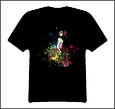 Rukia bleach anime manga t shirt Black