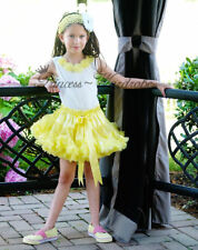 2PC Party Girls Yellow Pettiskirt Petti Skirt Tutu 1-8Y