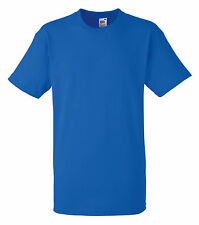 6 FRUIT OF THE LOOM PLAIN ROYAL BLUE T SHIRTS  XXL SALE