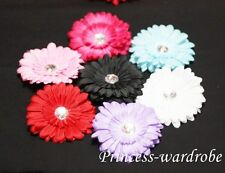 "4"" Crystal Gerber Daisy Flower Hair Clip for pettiskirt"