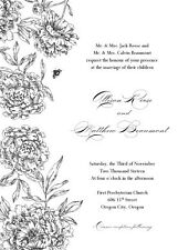 FORMAL WEDDING INVITATIONS AND RSVP WITH ENVELOPES!