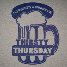 winner on thirsty thursday vintage beer funny party college mug graphic t shirt