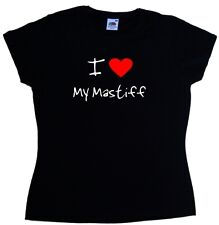 I Love Heart My Mastiff Ladies T-Shirt