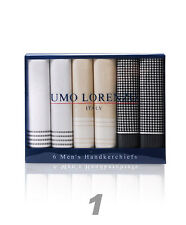 Men's COTTON HANDKERCHIEFS Box of 6 in 2 Styles (FH006)