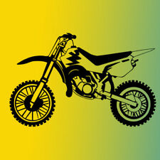 Motorcycle Dirt Bike art Vinyl Wall Decal Sticker