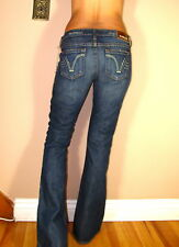 PRVCY Monaco Straight Leg Dark Paletto Jammer Vintage Distressed Jeans 24 XS
