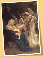 BOUGUEREAU SONG OF THE ANGELS MATTED PRINT POSTER SIZE