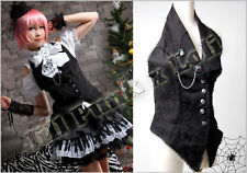Gothic Slight Punk Halter engraved lace Vest FA200B