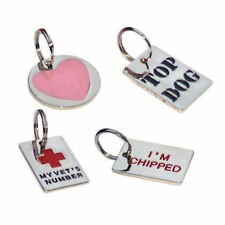 Luxury pet id tag for dogs hard wearing, Engraved Free
