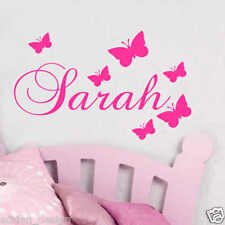 PERSONALISED name Butterfly WALL STICKER ART QUOTE
