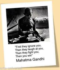 MAHATMA GANDHI 2 MATTED PRINT POSTER SIZE INSPIRATIONAL