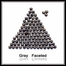 WholeSale Gray Hotfix iron Rhinestuds faceted 2, 3, 4mm