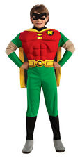 Boys Child TEEN TITANS Deluxe Muscle Robin Costume