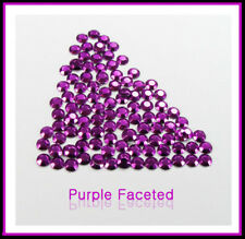 WholeSale Purple Hotfix iron Rhinestuds faceted 2,3,4mm
