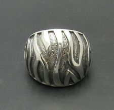 STYLISH STERLING SILVER RING 925 NEW SIZE 5-10 OXIDIZED