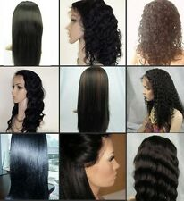 100% Indian Remy Human Hair Long Full Lace Wig/Wigs in Ponytail Hot Selling
