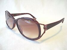 NEW SAKS FIFTH AVENUE 55/S COFFEE PINK ICE OR BERRY MARBLE WOMEN SUNGLASSES