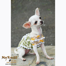 Casual Dog Dresses Sweater Clothes Pet Apparel Accessories Hand Crocheted DK828