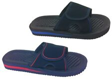Mens Velcro Flip Flops - Beach Mules - Sandals - New