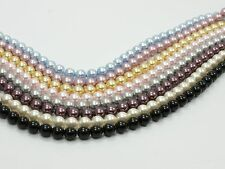 20 Genuine SWAROVSKI Crystal 5810 Round PEARL BEADS 4mm WHITE or  PICK COL
