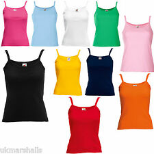 Fruit of the Loom Ladies Stap T Shirt Ladyfit Camisole