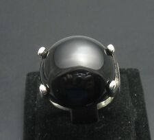 STERLING SILVER RING SOLID 925 BLACK ONYX SIZE 5-10 NEW