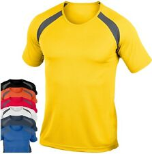 Hanes Cool-DRI Men's Plain Polyester Contrast Breathable Sports Tee T-Shirt