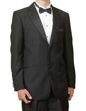 New Men's Formal Wedding Tuxedo Black / White All Sizes