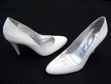 STEVE MADDEN SAPPHIRE WHITE PATENT WEDDING BRIDAL LADIES FORMAL SHOES NEW