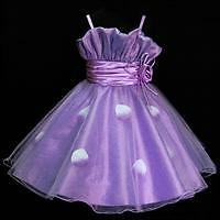 Girl Purple Wedding Celebration Party Flower Girls Dresses SIZE 2-3-4-5-6-7-8-9