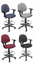 DRAFTING, STOOL, BANK CHAIR WITH ADJUSTABLE HEIGHT ARMS 4 COLORS AVAILABLE B1616