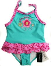 NWT Baby Girls Swimsuit W/ Build In Nappy Size 0-3 3-6 6-9 9-12 12-18 18-23 Mths