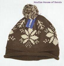 Mens Winter Bobble Beanie Ski Snow hat 2 Colors(Brown, Beige) One Size Fits Most
