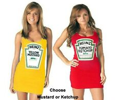 Heinz Juniors Costume Tank Dress-Mustard and Ketchup