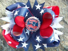 NEW ENGLAND PATRIOTS CHOOSE YOUR IMAGE BOTTLECAP HAIRBOW