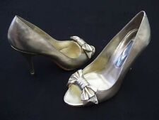 STEVE MADDEN AGATE PALE GOLD WEDDING BRIDAL LADIES FORMAL DRESS SHOES NEW
