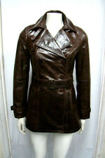 DIANA GIRLS,LADIES ,CELEBRITY,FASHION DESIGNER BROWN ITALIAN LEATHER TRENCH COAT