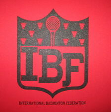 womens international badminton federation funny vintage athletic logo t shirt