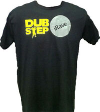 AVIT - iRAVE DUBSTEP - T SHIRT - BLACK WITH YELLOW TEXT