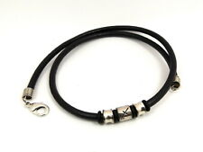 ~Custom Made~  ZODIAC Sign Charm & 4mm RUBBER or Genuine LEATHER CHOKER NECKLACE
