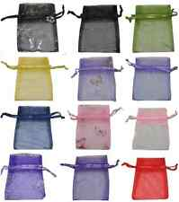 10 X LARGE DRAWSTRING CRYSTAL ORGANZA BAGS - VARIOUS COLOURS TO CHOOSE FROM