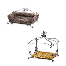 Dog Cat PET BEDS Wood or Metal Frame Comfy Cushions Fits Small to Medium