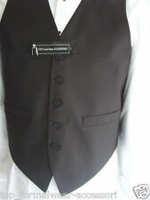 "BOYS Weddind BLACK Waistcoat 30"" to 36"" Chest-9 to 15 Years+*Free* Black Bow tie"