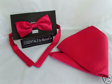 Dark RASPBERRY Bow Tie and Hankie Set<With us> More Sets U Buy>The More £ U Save